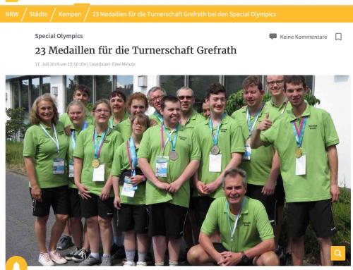 23 Medaillen für die Turnerschaft Grefrath