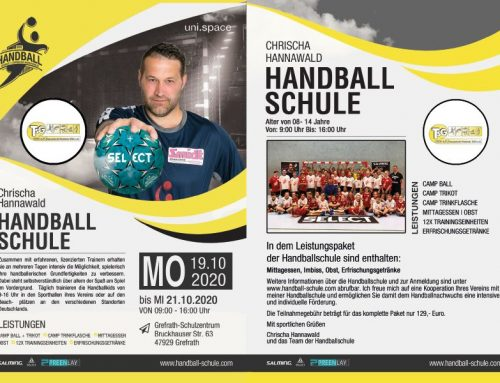 AUSGEBUCHT! Handballcamp – Chrischa Hannawald HANDBALLSCHULE